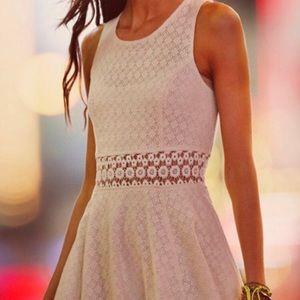 Free People Ivory Lace Daisy Waist Dress